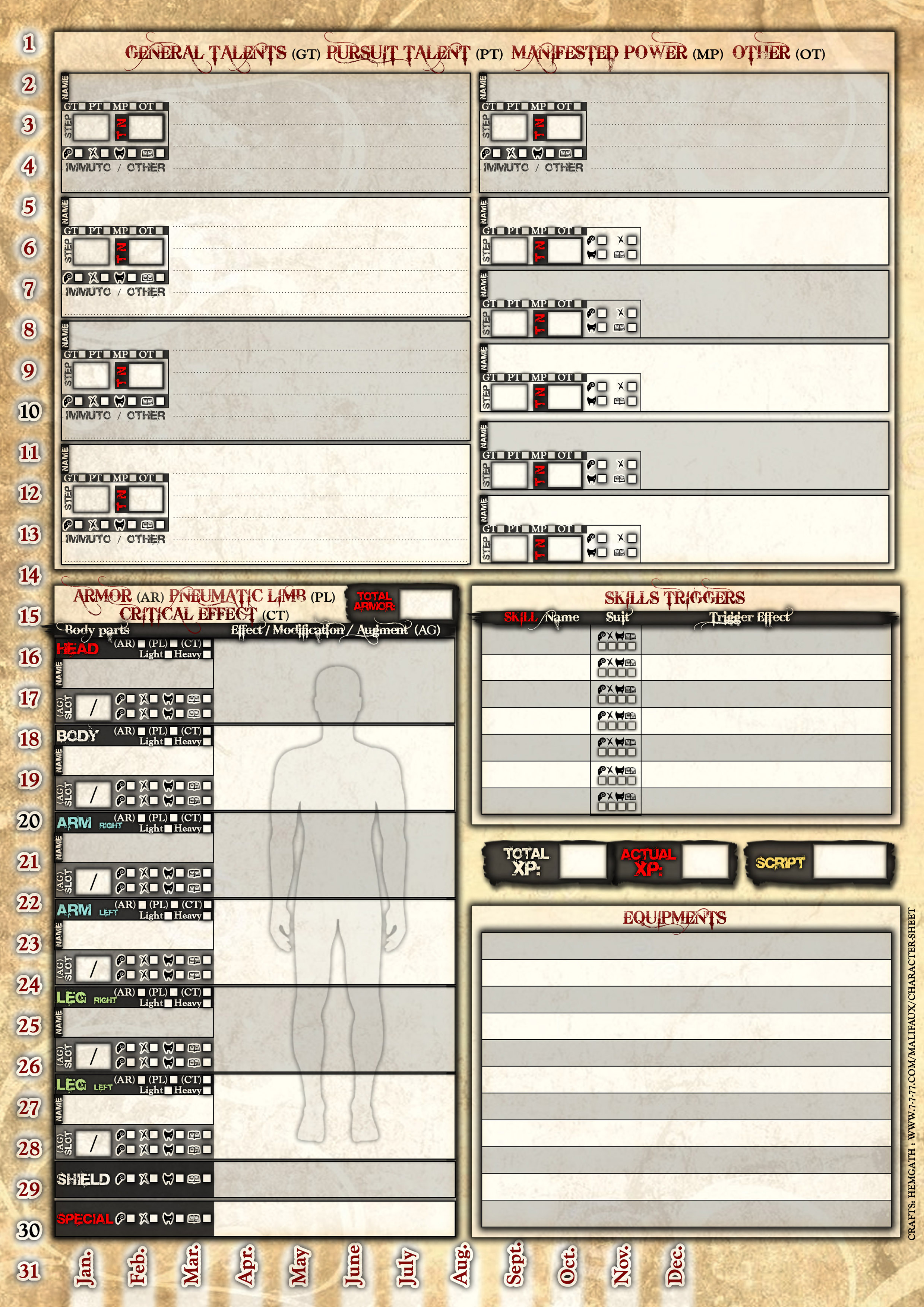 Second edition full character sheet (4 page) - Player ...